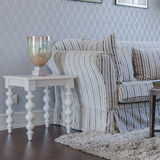 Classic sofa with white wooden table in luxury living room at ho Royalty Free Stock Photo