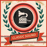 Classic Sound symbol,Vintage style Royalty Free Stock Image