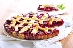 Classic Sour Cherry Pie Stock Photos