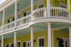 Classic Southern USA Architecture With Large Balcony Royalty Free Stock Photography