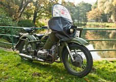 Classic Soviet motorcycle M-72 Royalty Free Stock Photography