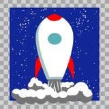 Classic Rocket Space Ship Illustration stock illustration