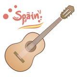 Classic spanish guitar Royalty Free Stock Photos
