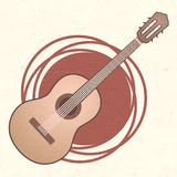 Classic spanish guitar Royalty Free Stock Photography