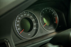 Classic speedometer of car Royalty Free Stock Photography