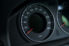 Classic speedometer of car Royalty Free Stock Images