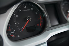 Classic speedometer of car Stock Image