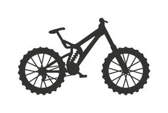 Classic sport bike silhouette pedal race vehicle vector illustration. Royalty Free Stock Photography