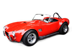 Classic sport car. An isolated shot of a classic red sport car Royalty Free Stock Image