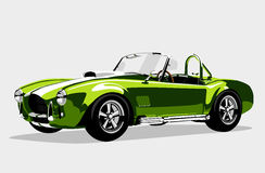Classic sport green car AC Shelby Cobra Roadster Stock Photo