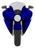 Classic sport racing motorcycle front view isolated Royalty Free Stock Image