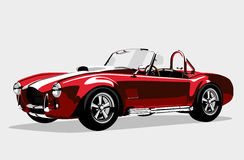 Classic sport red car AC Shelby Cobra Roadster Stock Photography
