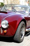Classic sports car. Nose of classic sports car stock photos