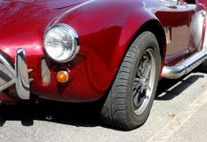 Classic sports car. Red classic sports car Royalty Free Stock Photo