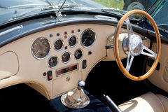 Classic Sports Car Dashboard Royalty Free Stock Photo