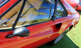 Classic sports car door at an angle Royalty Free Stock Image