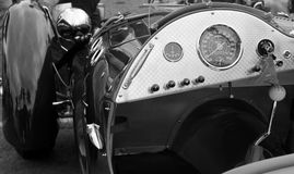 Classic sports car gauges. Classic british sports car gauges 1951 allard j2 Royalty Free Stock Images