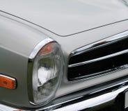 Classic sports car headlamp Stock Photo