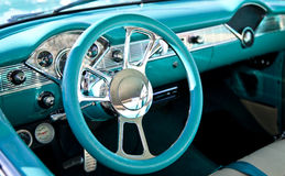Classic Sports Car Interior Royalty Free Stock Photos