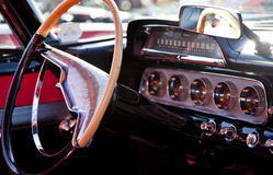 Classic Sports Car Interior. Driver's seat and interior of a classic sports car Royalty Free Stock Photography