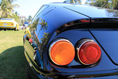 Classic sports car tail lights. Classic Italian sports car tail lights from the 1970s royalty free stock image