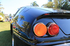 Classic sports car tail lights. Classic Italian sports car tail lights from 1970s Ferrari 365 gtb /4 Daytona stock image