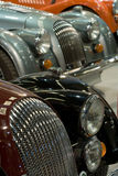 Classic sports cars. Group of classic old sports cars at a motor show Stock Photo