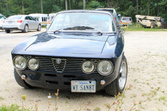 Classic sporty alfa romeo front view Stock Photos