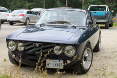 Classic sporty alfa romeo front view Royalty Free Stock Image