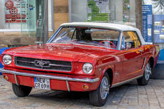 Classic sporty convertible of the 60's. Royalty Free Stock Images