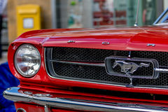 Classic sporty convertible of the 60's. Royalty Free Stock Photo