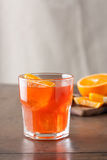 Classic spritz cocktail on wooden table Stock Images