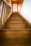 Classic staircase with wood door Royalty Free Stock Photography