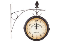 Classic station clock isoalted on white. Stock Photography