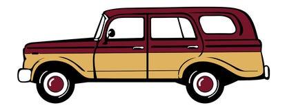 Classic station wagon. Classic retro station wagon.  vector illustration Stock Image