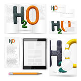 Classic stationery template. Documentation for Royalty Free Stock Photo