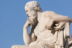 Classic statue Socrates. Classical statue of Socrates from side Stock Photo