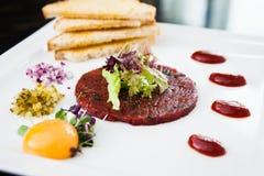 Classic steak tartare Stock Images