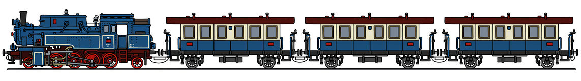 Classic steam train. Hand drawing of a classic steam train - not a real model vector illustration