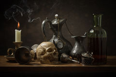 Classic still life with old objects Royalty Free Stock Photos