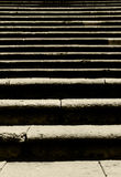 Classic stone flight of steps, concept of trial Stock Photos