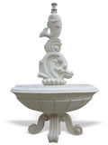 Classic stone fountain basin isolated over white Royalty Free Stock Image
