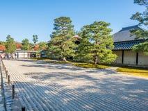 Stone zen garden in Kyoto, Japan. Classic stone garden in Japanese zen style in Kyoto, Japan Royalty Free Stock Photography