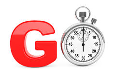 Classic Stopwatch as Red Go Sign. 3d Rendering Stock Photography