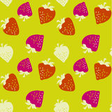 Classic strawberries seamless pattern Royalty Free Stock Photos