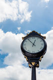 Classic Street Clock Under Nice Sky Stock Photos
