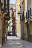 Classic street facades in Teruel. Spain arquitecture. Tourism. Background Royalty Free Stock Images