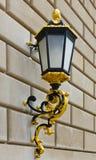 Classic street lantern on brick wall Stock Photos