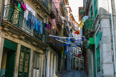 Classic street in old city of Porto Royalty Free Stock Image