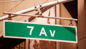 Classic Street Signs in New York City Stock Images